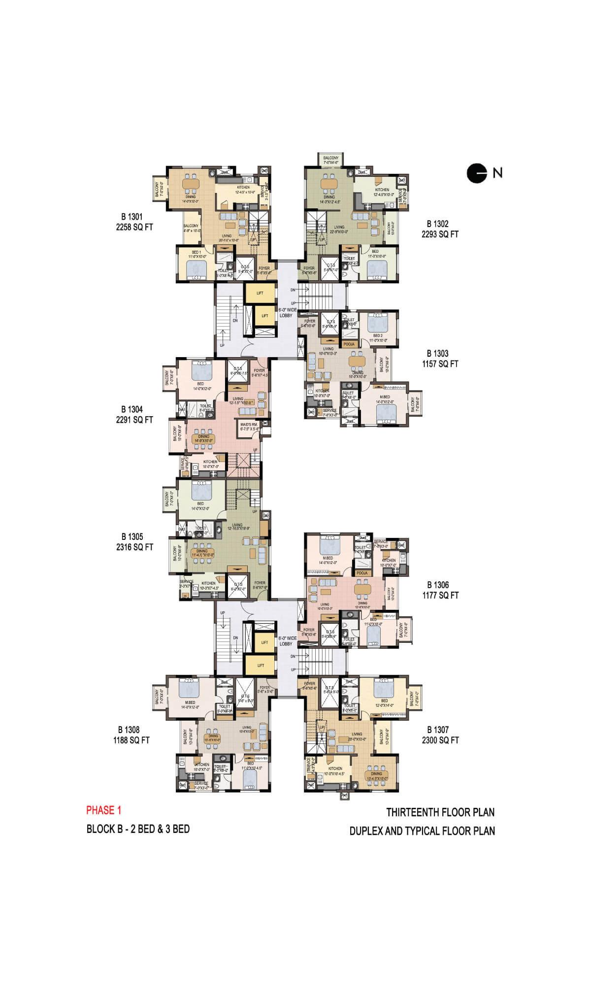 Thirteenth Floor Plan