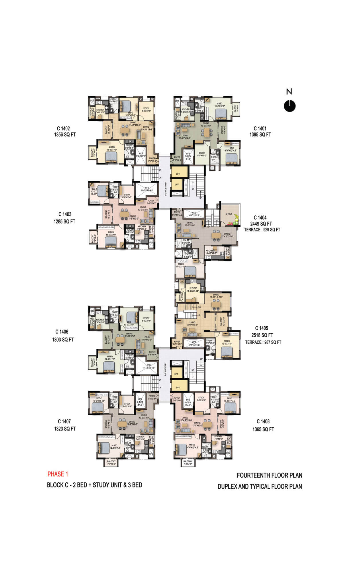 Fourteenth Floor Plan