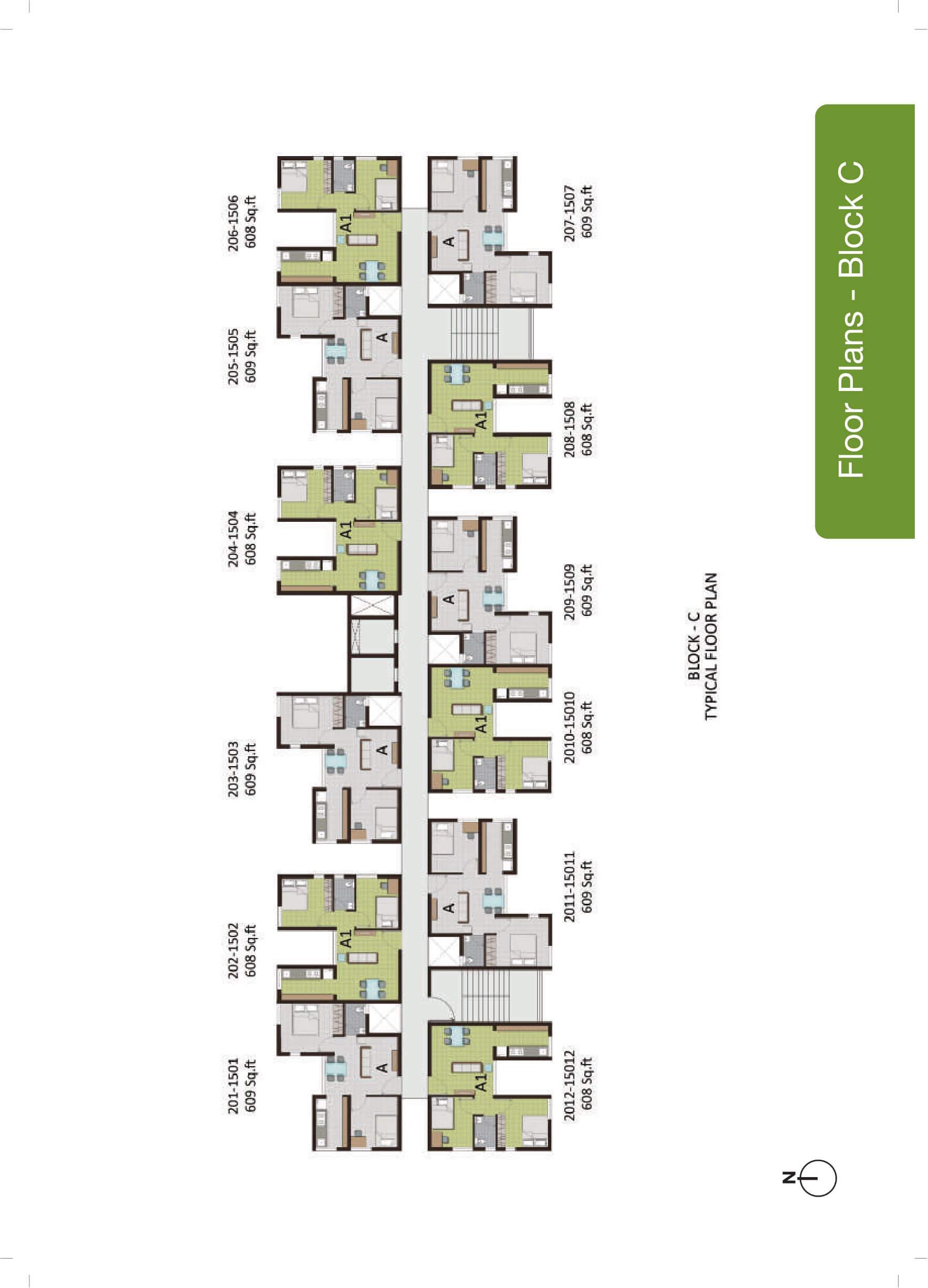 Block C - Typical Floor Plan