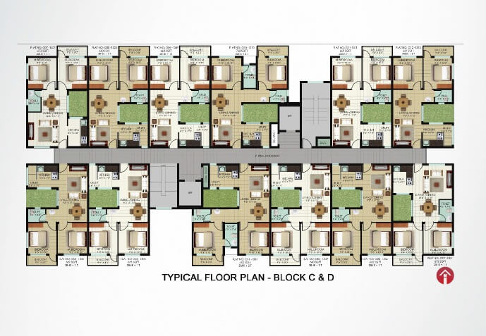 Typical Floor Plan-Block C & D